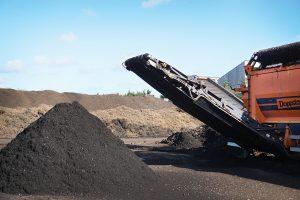 Crible tri et valorisation compost déchets organiques