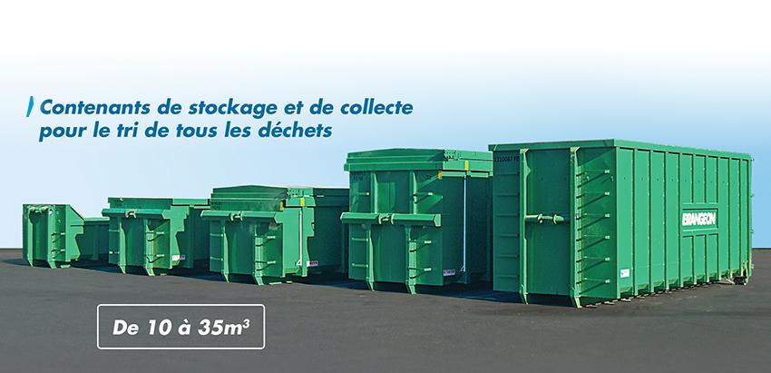 contenants stockage collecte tri dechets