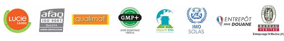 certifications Brangeon transport logisitque